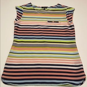Limited striped blouse. Capped sleeve.